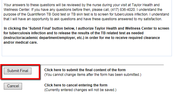 How to Schedule your TB test at Missouri State University Medical Tb Test Form on ss medical form, tuberculosis test form, cancer medical form, tuberculosis screening form, er medical form,