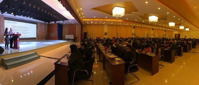 Dr. Arbindral Rimal presents at Ningxia University