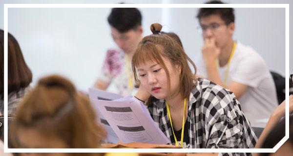 Photo of international students at New International Student Orientation