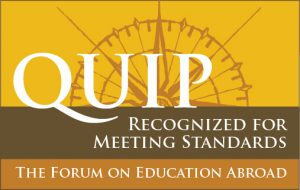 The Forum on Education Abroad QUIP recognition logo
