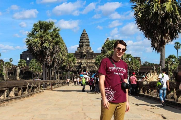 Jeremy Hatten poses for a photo abroad, Missouri State University Office of Study Away Programs