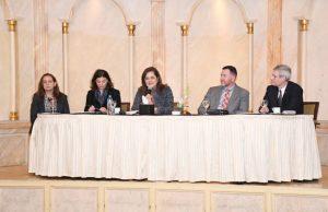 Panelist of Egyptian women's leaders and Missouri State University representatives.