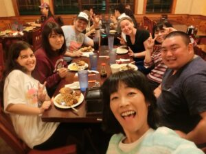 Motoki and friends out to dinner