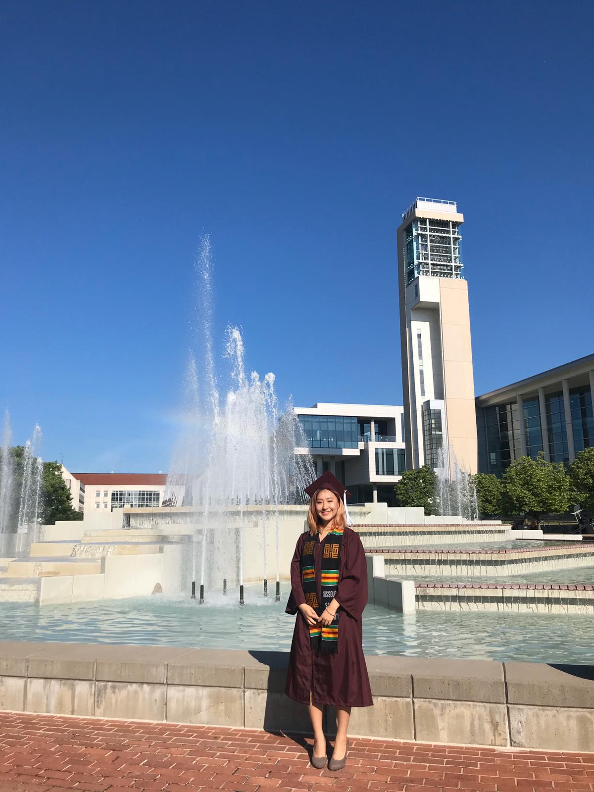 Ria in Missouri State Campus