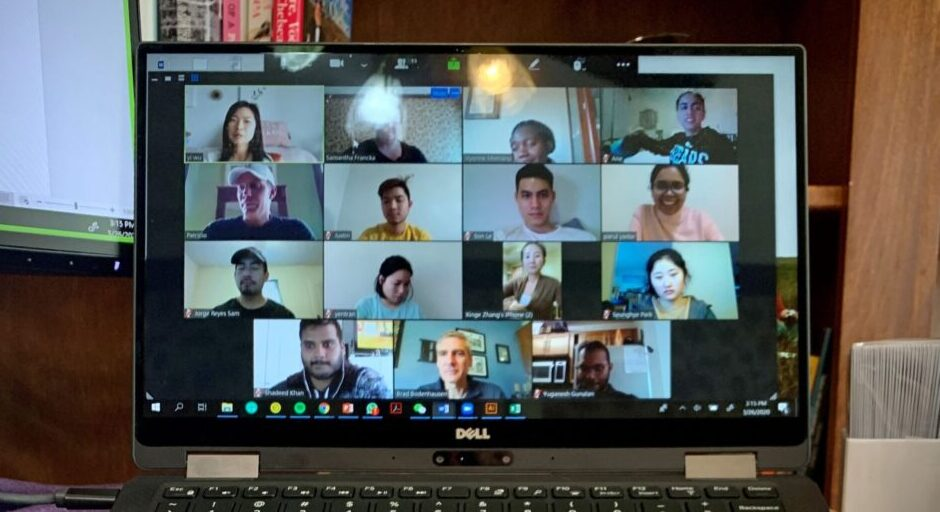 International Programs team on a Zoom call
