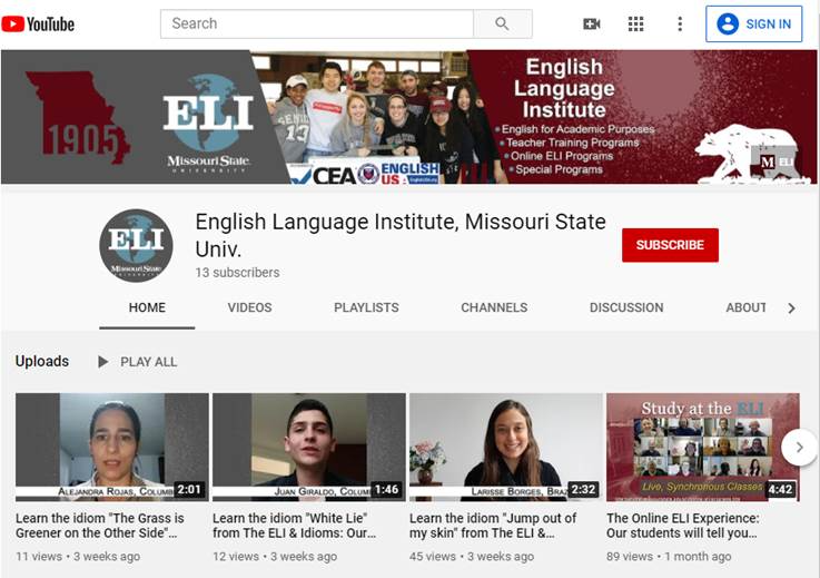 ELI youtube page