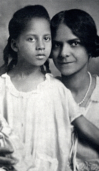 Vintage portrait of a mother and child