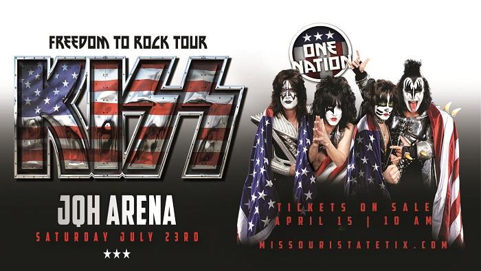 KISS at JQH Arena July 23!