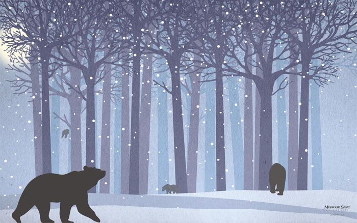 Winter-Forest-Bear