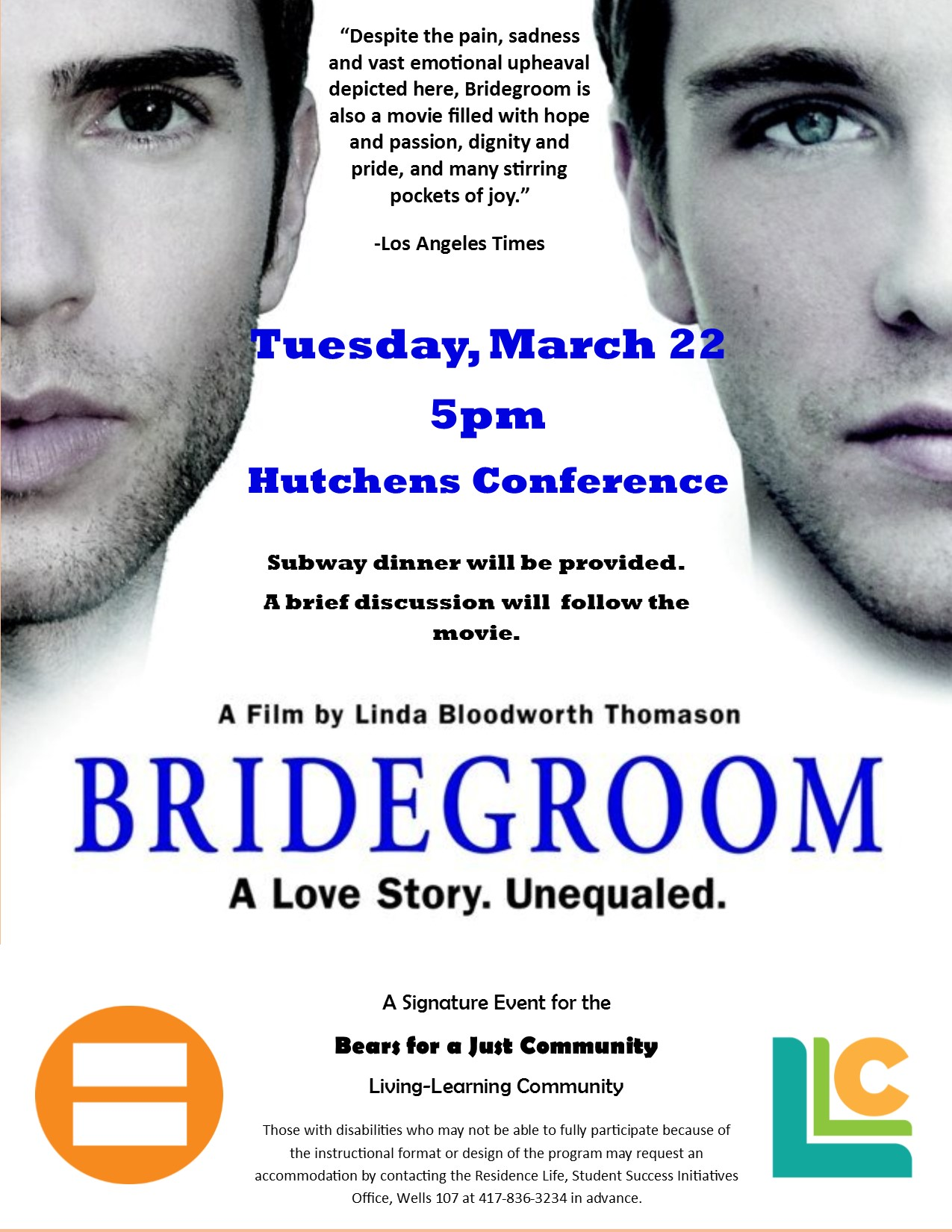Bears for A Just Community: Bridegroom viewing and dinner!