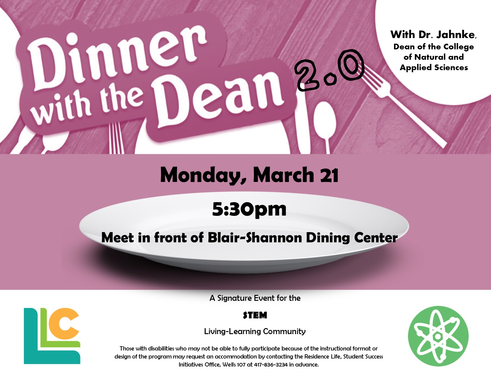 STEM Dinner with the Dean 2.0