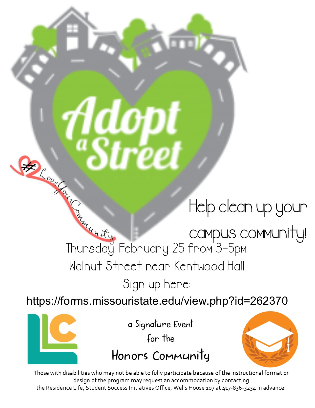 Honors Community: Adopt a Street