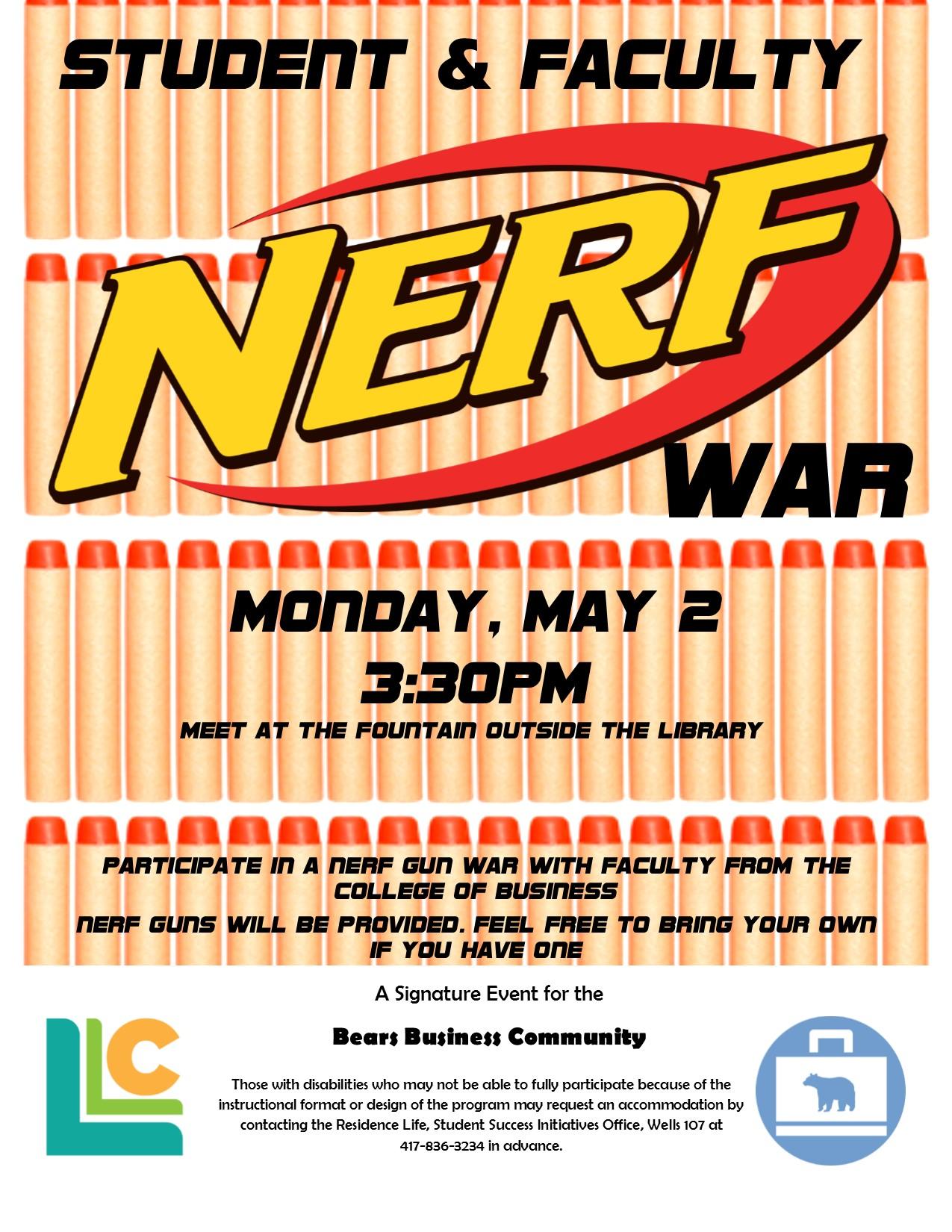 Bears Business LLC Student & Faculty NERF War