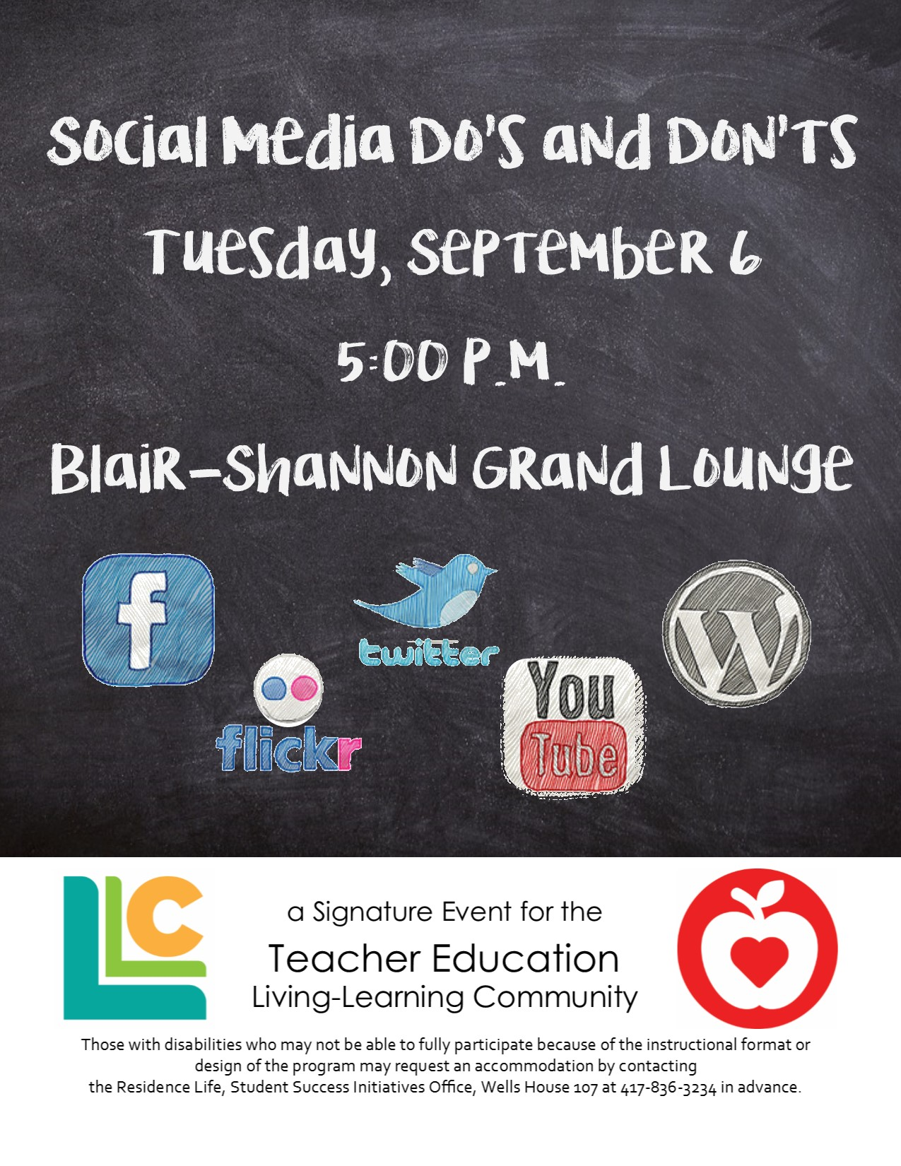Teacher Education LLC Event Social Media Do's and Don'ts