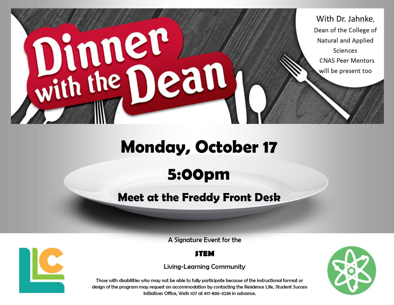 STEM: Dinner with the Dean