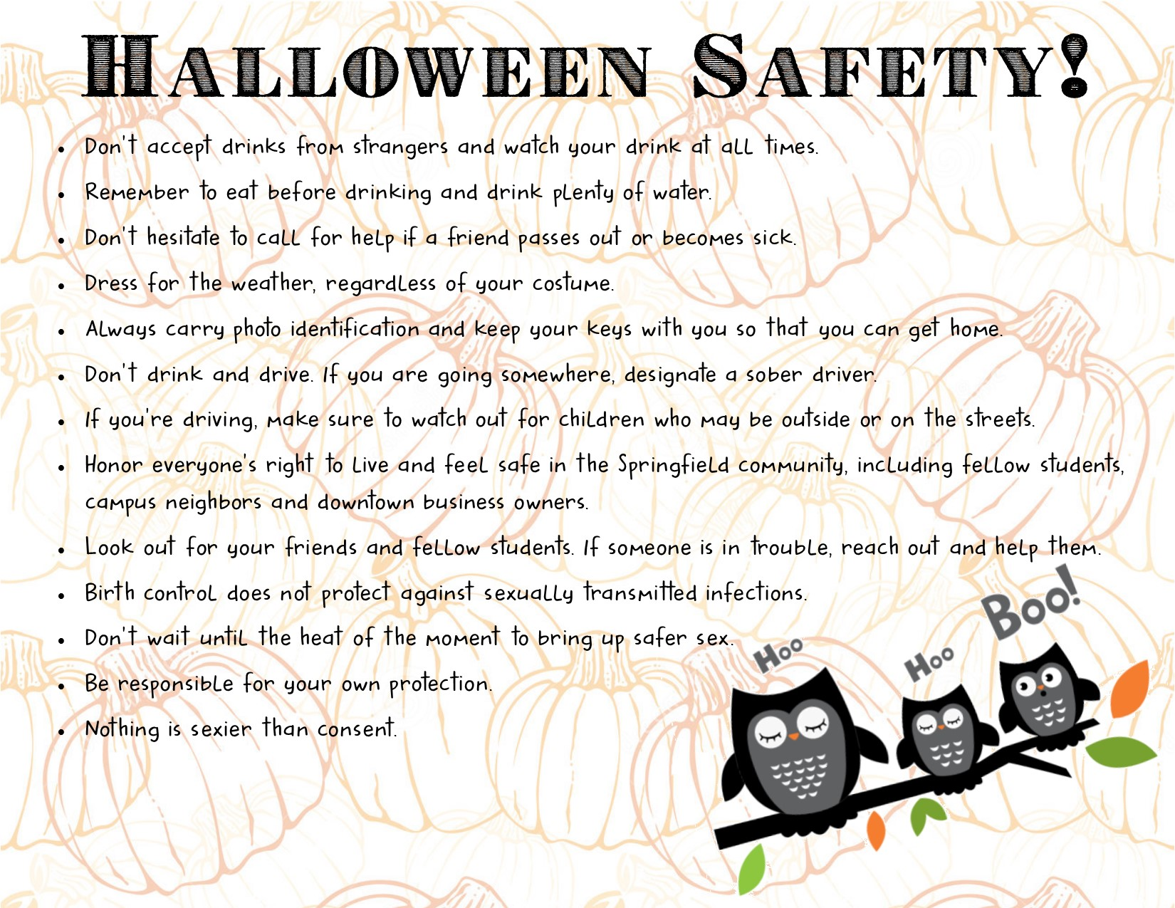 Halloween Safety!