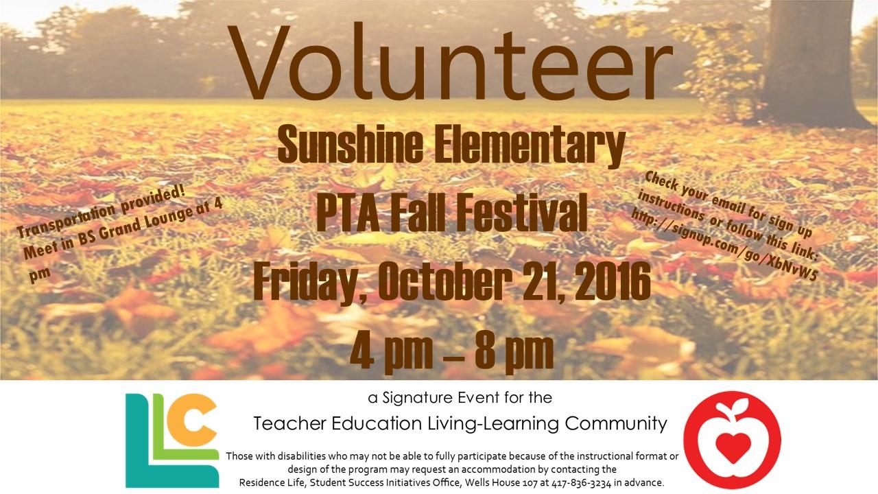 Teacher Education: Volunteer with Sunshine Elementary
