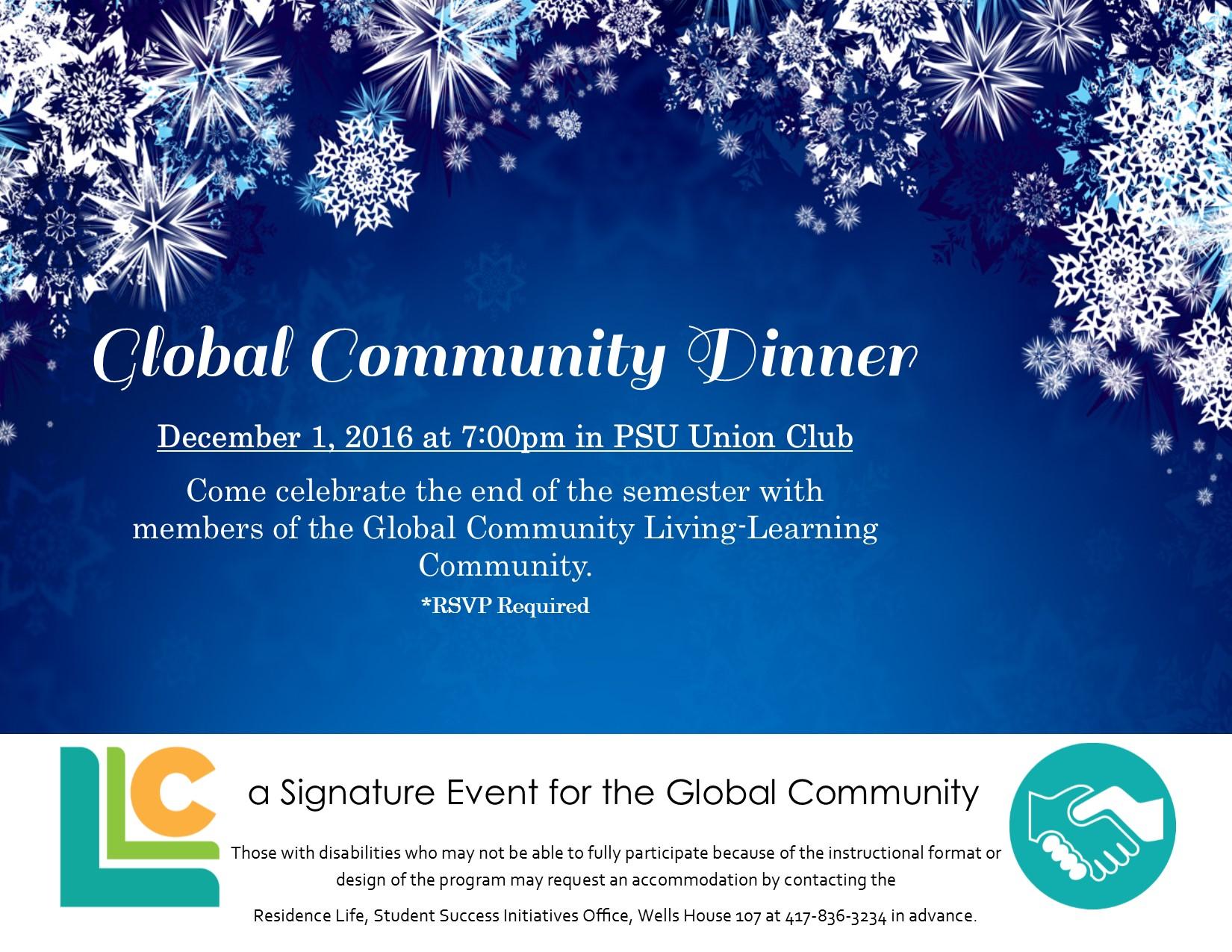 Global Community Dinner
