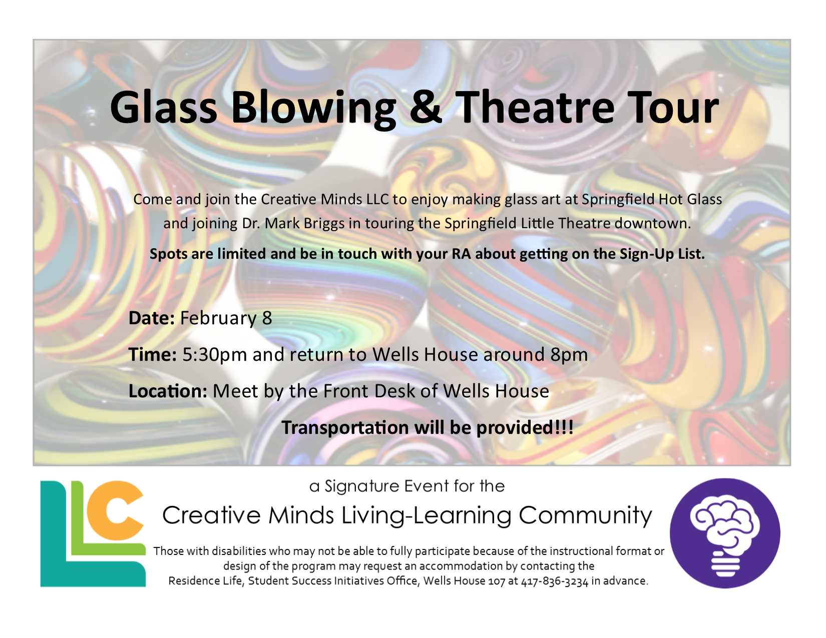 Creative Minds Glass Blowing and Theatre Tour
