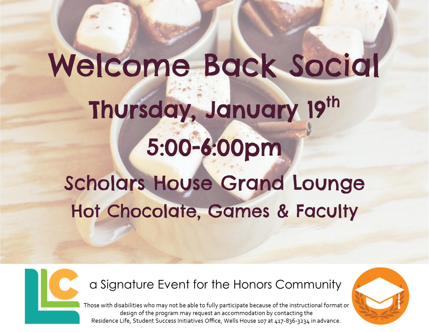 Honors Community Welcome Back Social