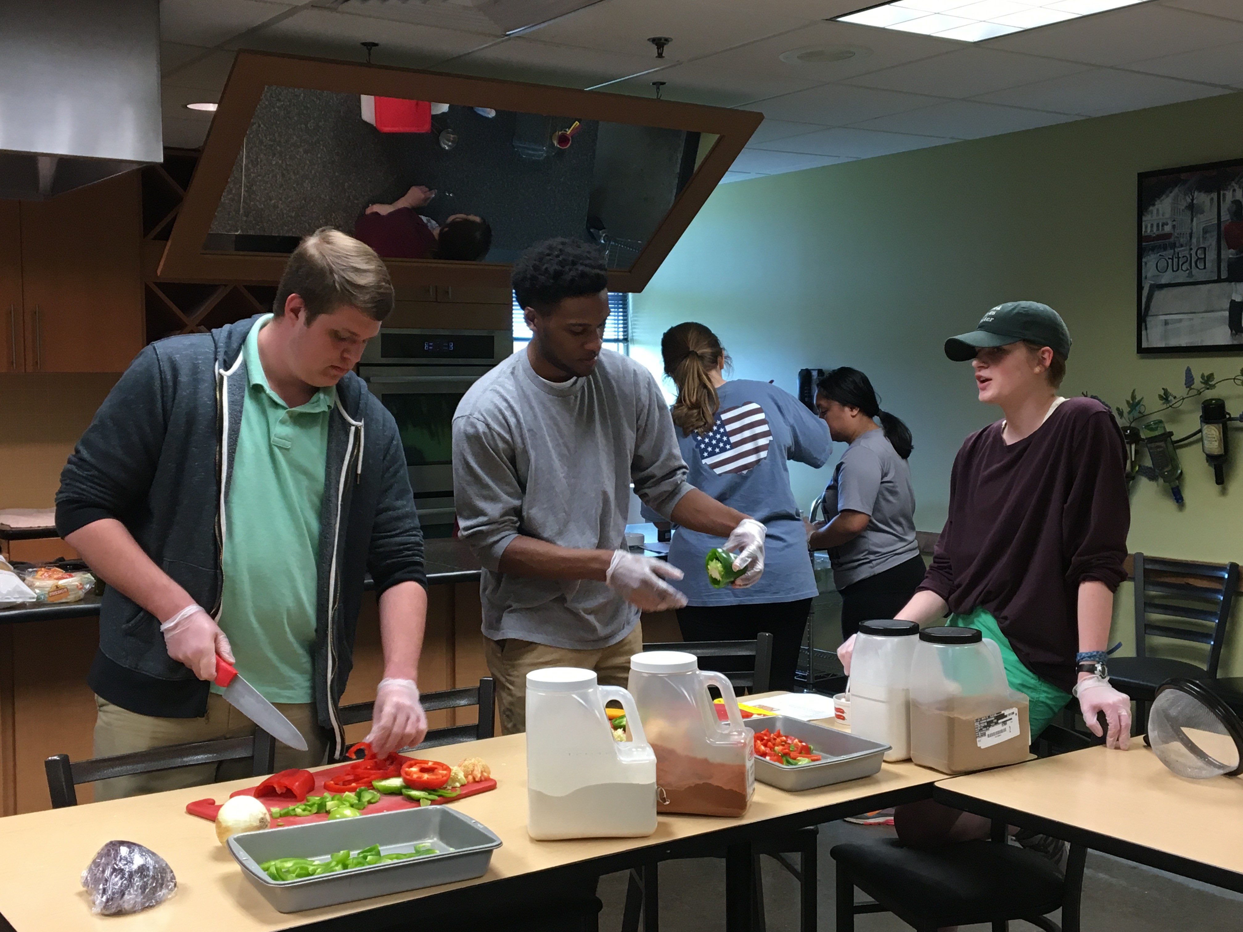 First-Year Bears Cooking class at Hy-vee