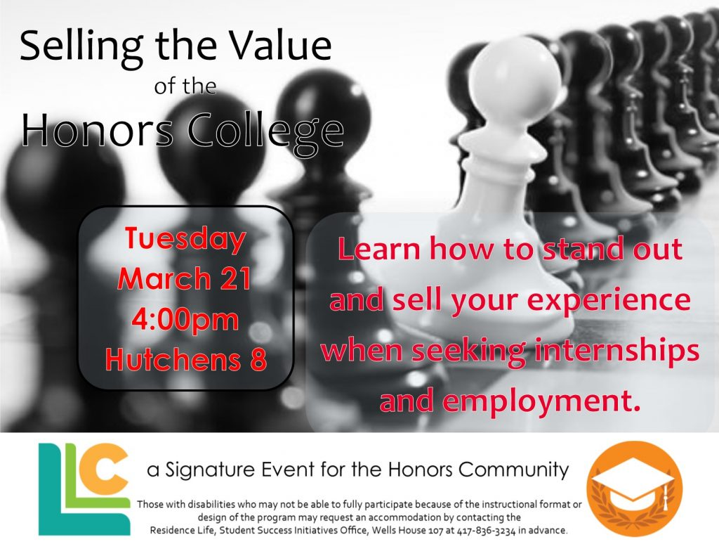 Tuesday March 21 4:00pm Hutchens 8