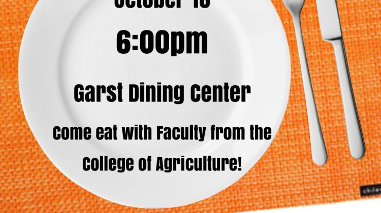 Agriculture Dinner with Faculty