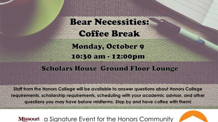 Bears Necessities: Coffee Break for Honors Community