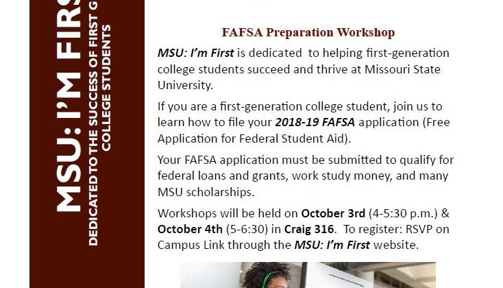 MSU: I'm First FAFSA Preparation workshops