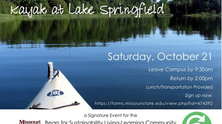 Bears for Sustainability Kayak at Lake Springfield