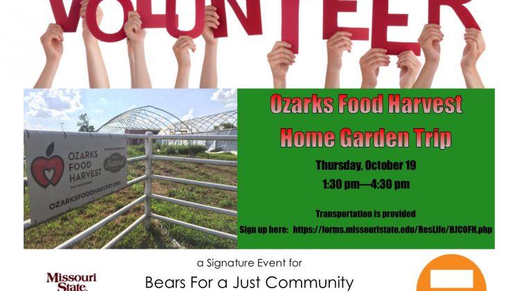 Bears for a Just Community Volunteer at Ozarks Food Harvest