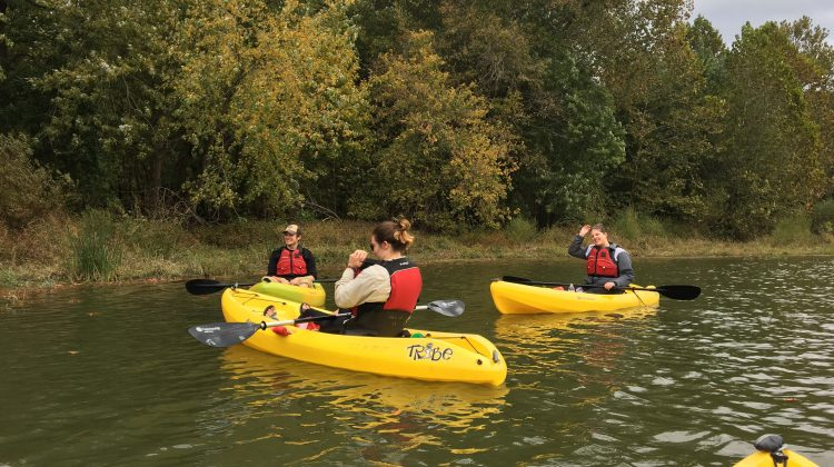 Bears for Sustainability go kayaking