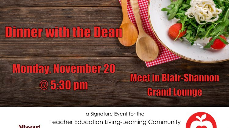 Teacher Education: Dinner with the Dean