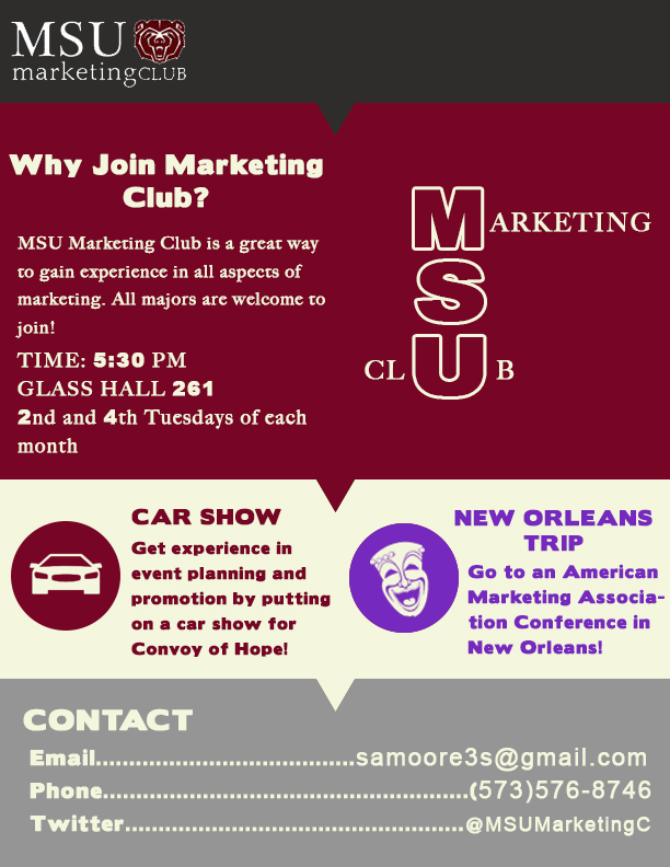 Join the MSU Marketing Club!