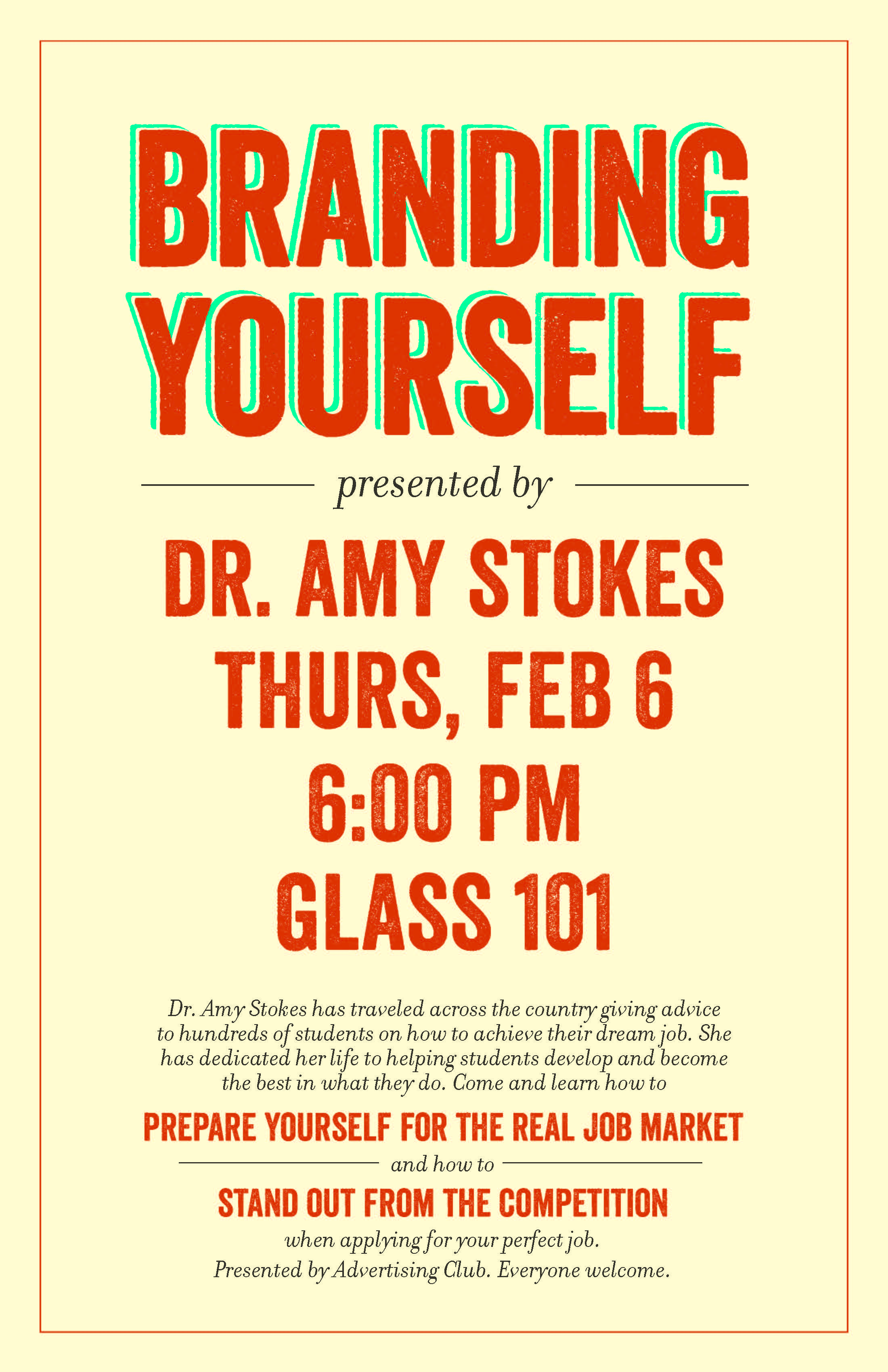 Build Your Professional Skills with Dr. Amy Stokes–Thurs. @ 6pm