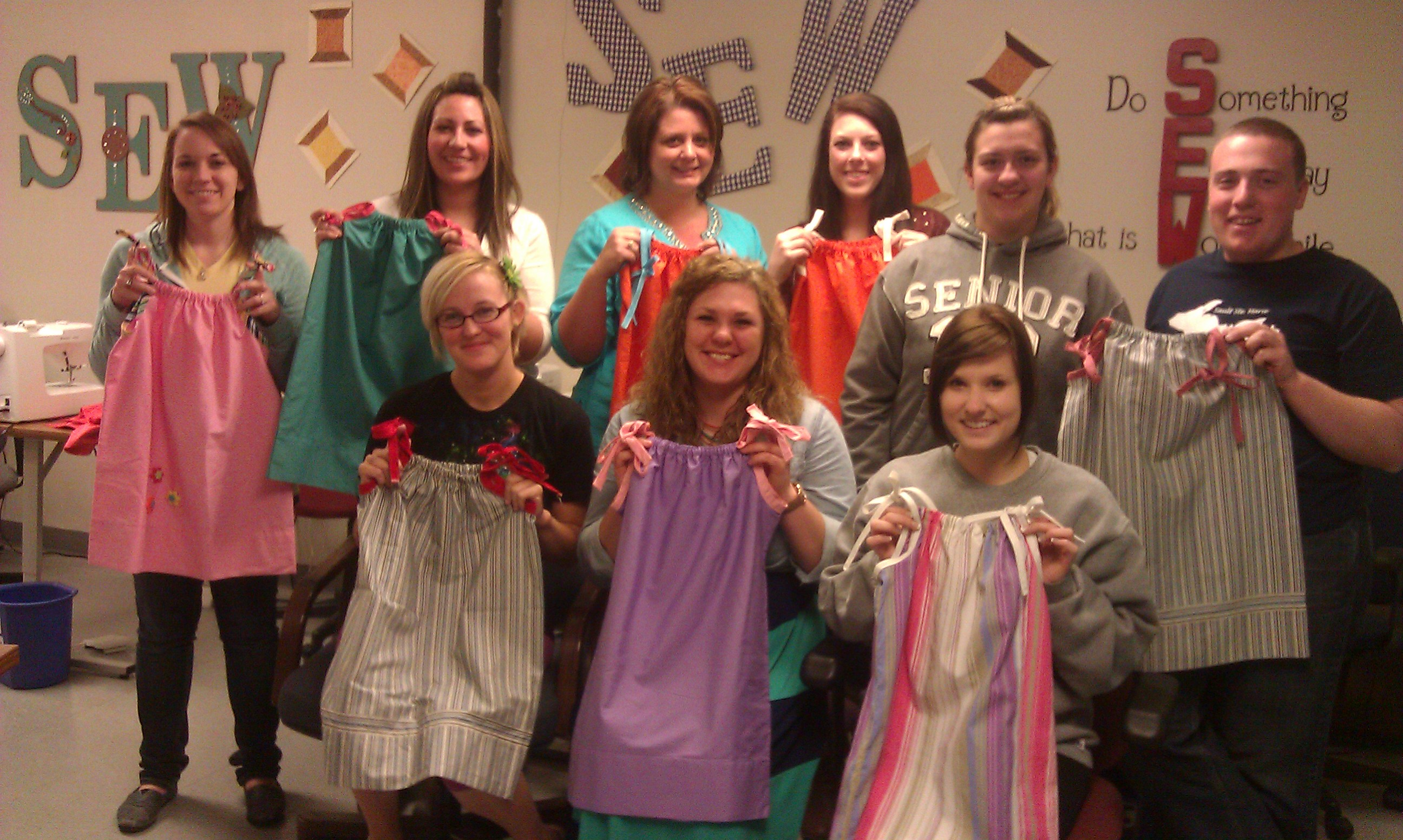 Fashion Students Make Pillowcase Dresses for Nicaraguan Mission Trip
