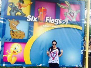 Maryam enjoying Six Flags