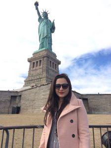 Maryam visiting the statue of liberty
