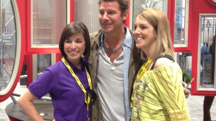 Carly in her role as Marketing and Events Coordinator with Ty Pennington.