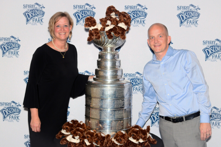Jamie and Jeff Vann with the Stanley Cup