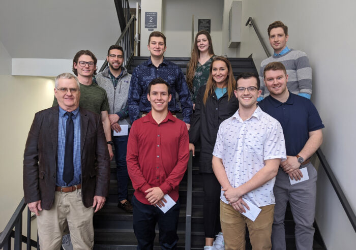 Photo of Advanced Selling students and Dr. Schaefer.