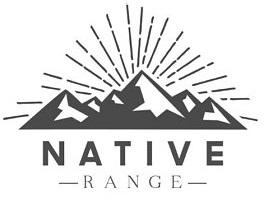 company logo for Native Range featuring a sunburst behind a mountain range