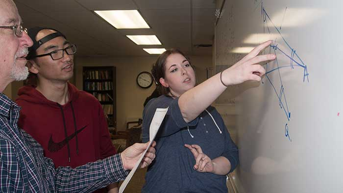 Math problem solving group creates bonds between faculty, students