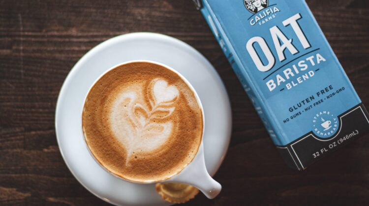 Coffee with oat milk