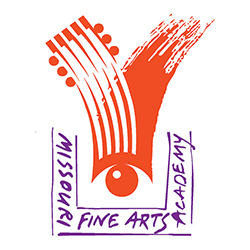 Missouri Fine Arts Academy logo in orange and purple.