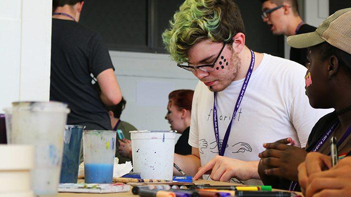 MFAA student painting