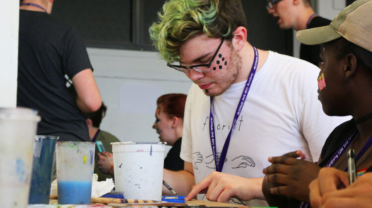 MFAA students get creative with paint