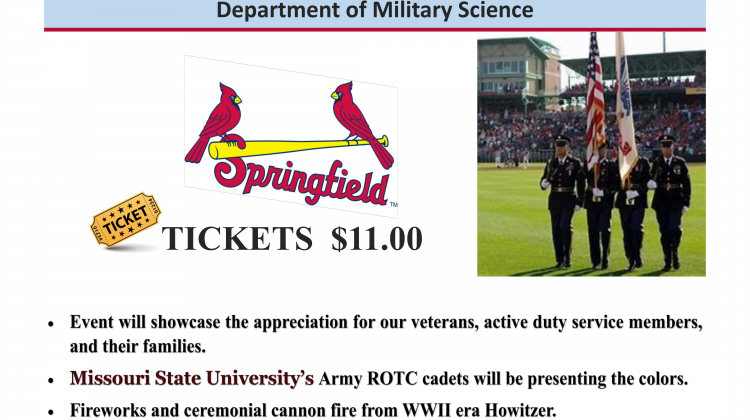 Springfield Cardinals support Military Appreciation on April 27th!!!