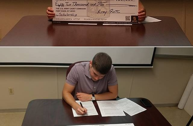 Congratulations Jonathan Baumann on your 3 year ROTC Scholarship!!!