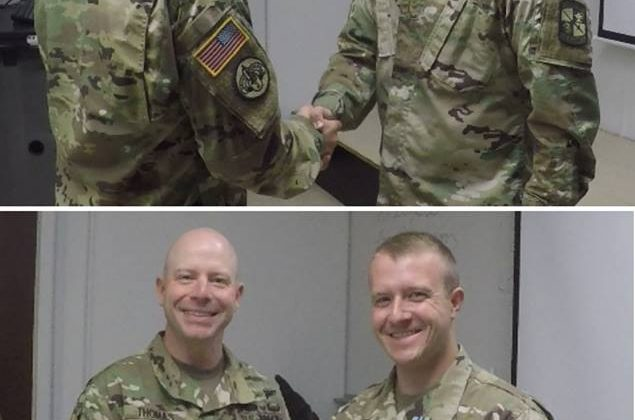2LT Holbrook receives Army Achievement Medal